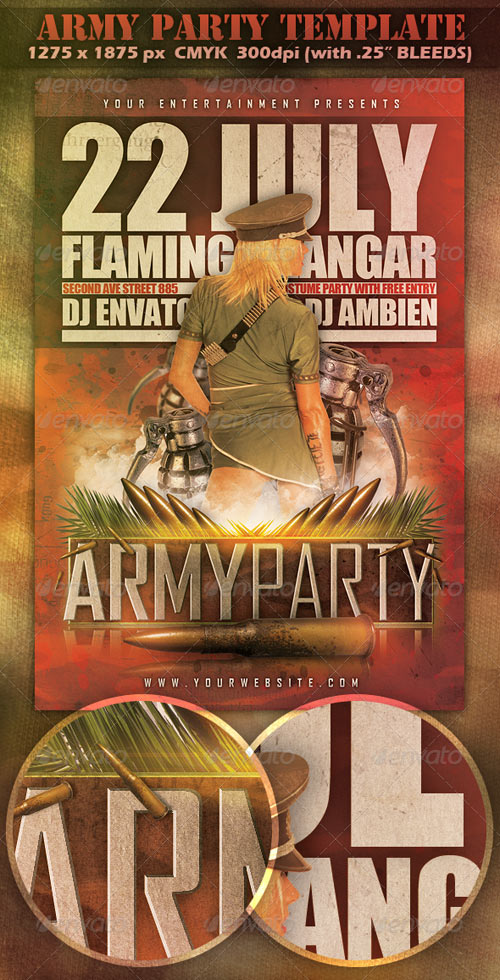 GraphicRiver Army Party Template