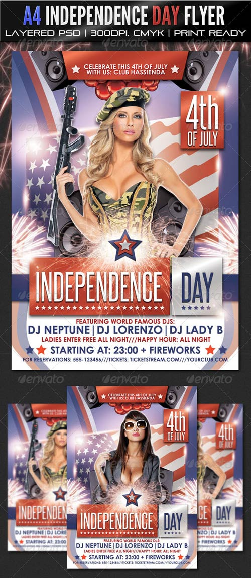 GraphicRiver A4 Independence Day Party Flyer