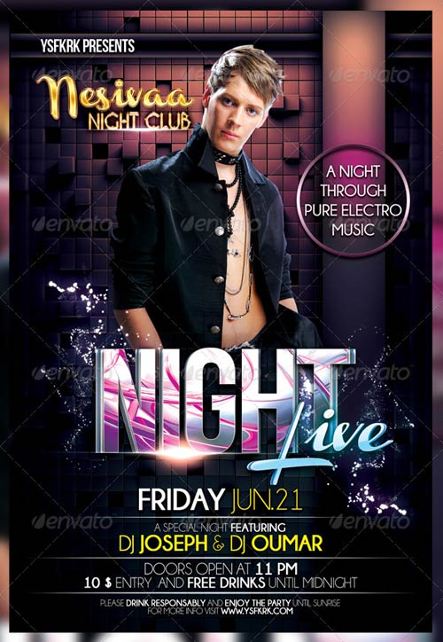 GraphicRiver Night Live Flyer Template