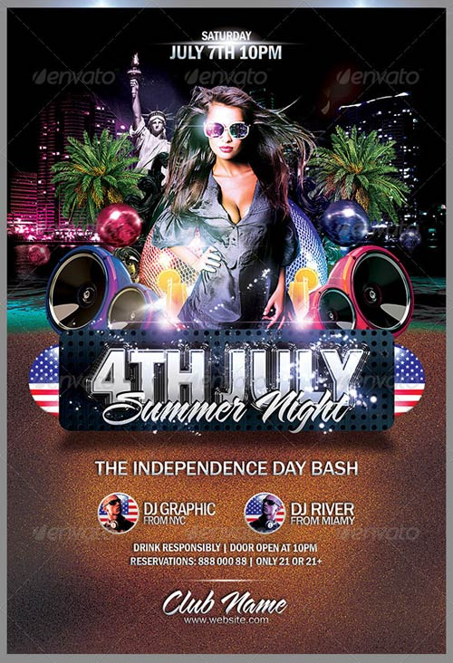 GraphicRiver 4th July Summer Night