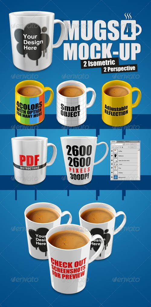 GraphicRiver Mugs for Mock-Up
