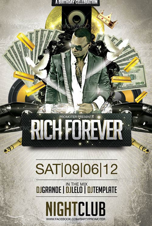 GraphicRiver Rich Forever Party Flayer