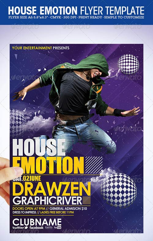GraphicRiver House Emotion Flyer Template