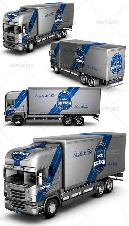 GraphicRiver Truck Mock Up