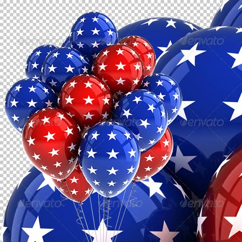 GraphicRiver Patriotic USA Party Balloons