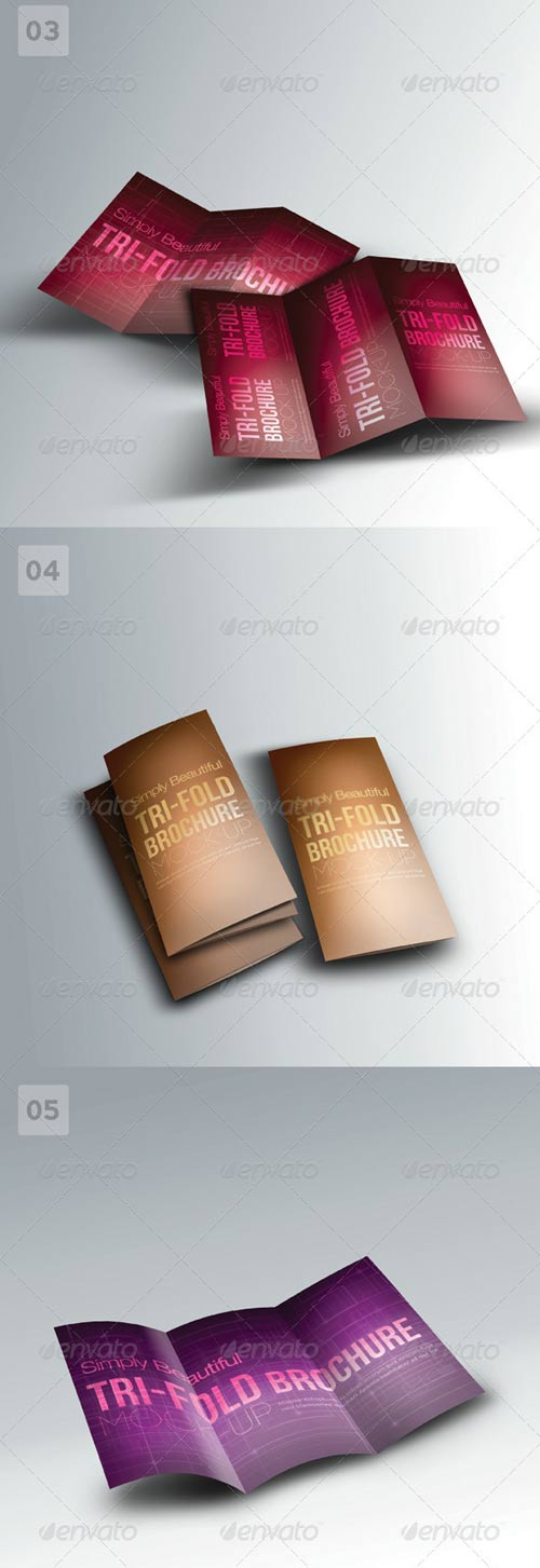 GraphicRiver Trifold Brochure Mock-ups 01