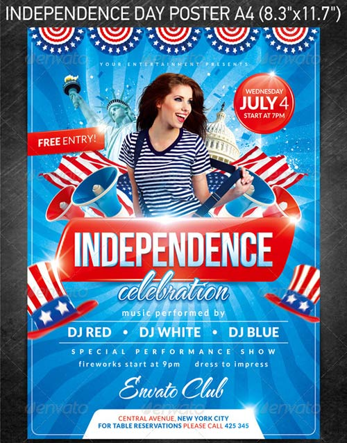 GraphicRiver Independence day party poster