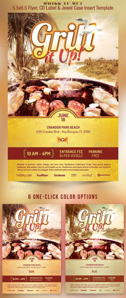 GraphicRiver Grill It Up Flyer Template