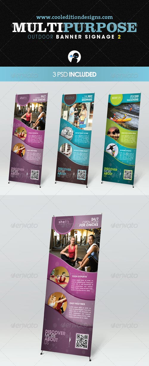 GraphicRiver Multipurpose Outdoor Banner Signage 2