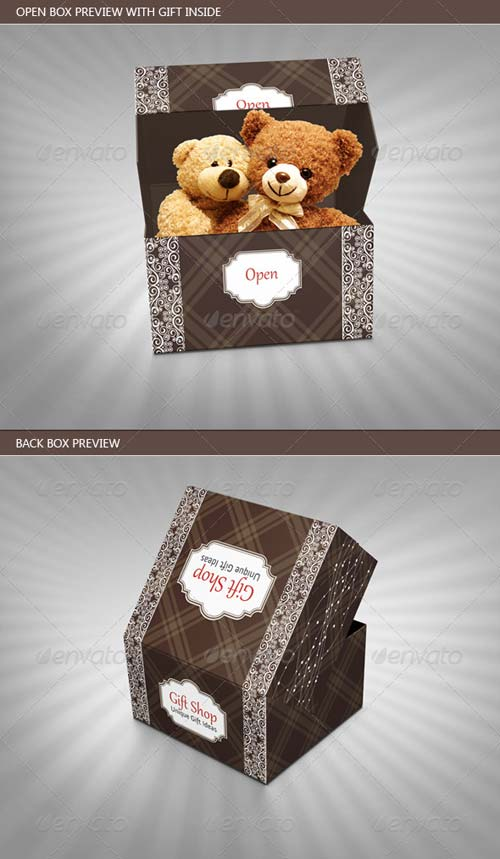 GraphicRiver Retro and Vintage Gift Box Package Template