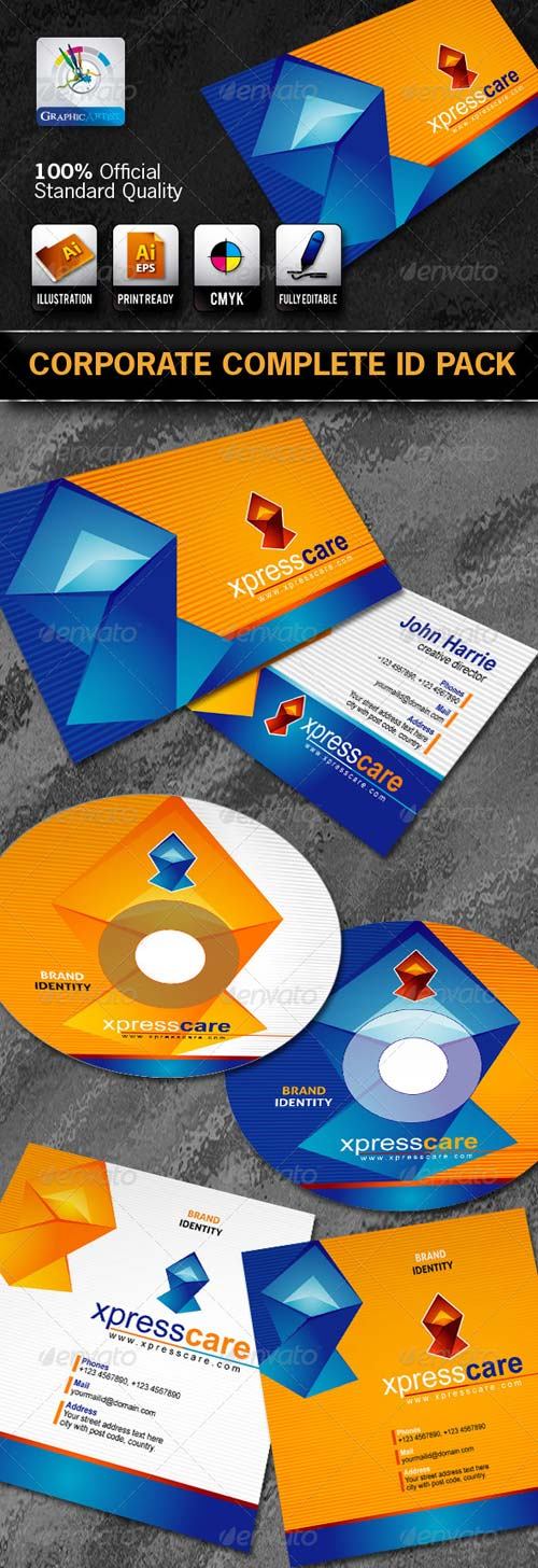 GraphicRiver DX_Xpress Care Business Corporate ID Pack + Logo