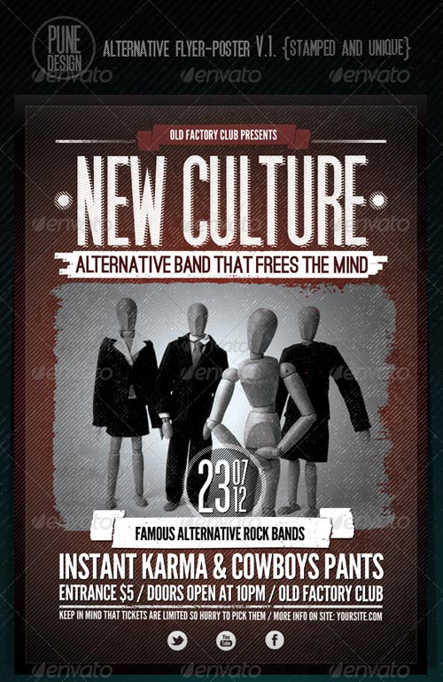 GraphicRiver New Culture | Alternative Flyer/Poster V.1