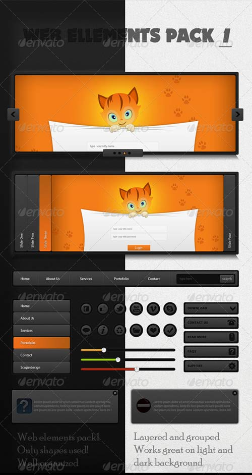 GraphicRiver Modern Web Elements - pack 1