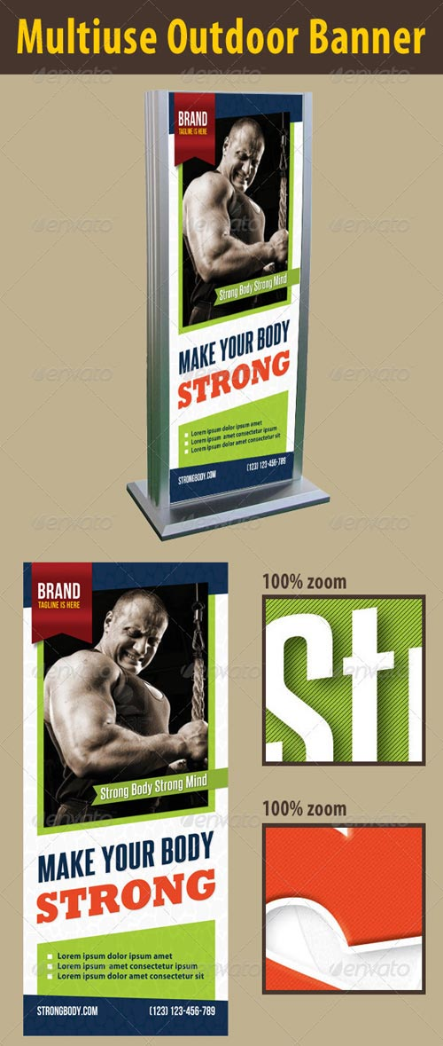 GraphicRiver Fitness Outdoor Banner
