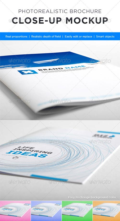 GraphicRiver Photorealistic Brochure Close-up Mock-up