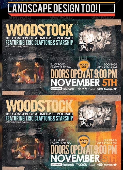 GraphicRiver Woodstock PSD Flyer Templates Vol-1