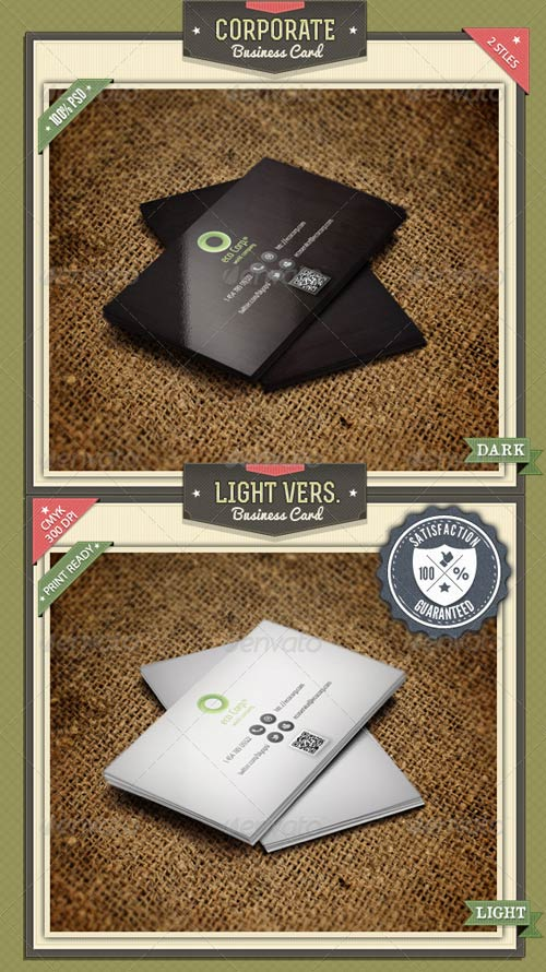 GraphicRiver Corporate Business Card 2 Styles