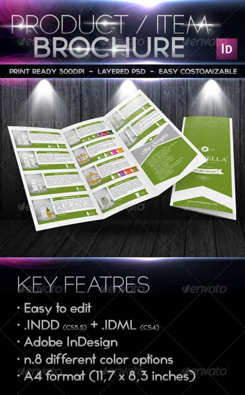 GraphicRiver Products/Items - Marketing Retro Trifold Brochure