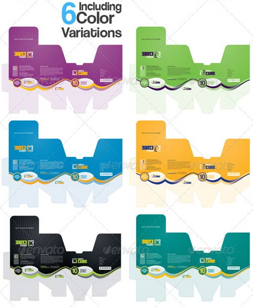 Graphicriver ga retro box multipurpose packaging for Adobe illustrator packaging templates
