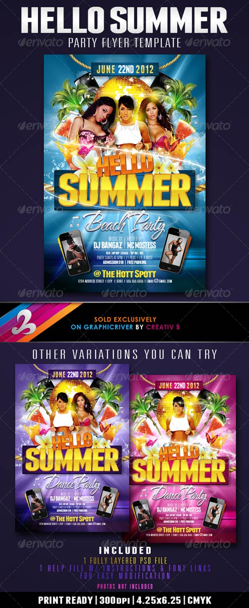 GraphicRiver Hello Summer Party Flyer Template