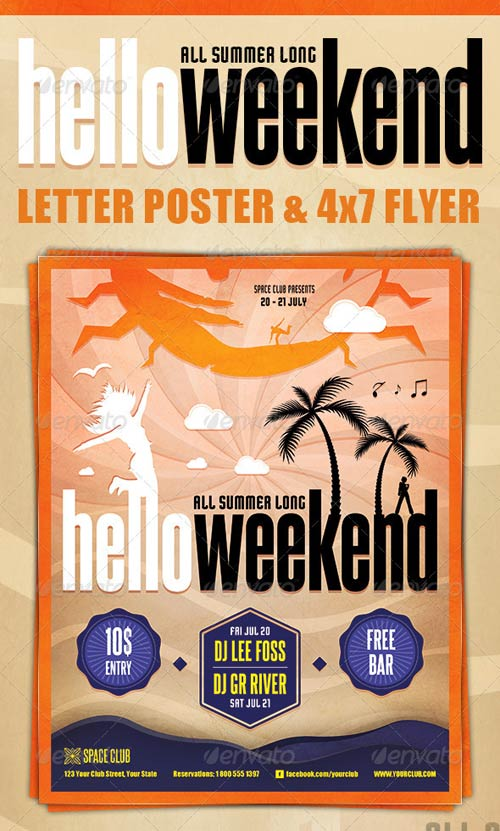 GraphicRiver Hello Weekend Poster & Flyer