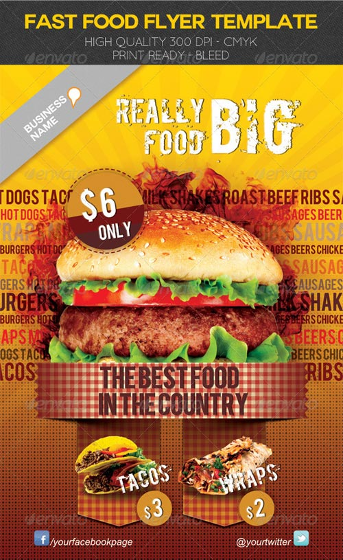 GraphicRiver Fast Food Flyer Template