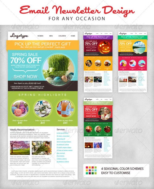 GraphicRiver Seasonal Email Newsletter Template
