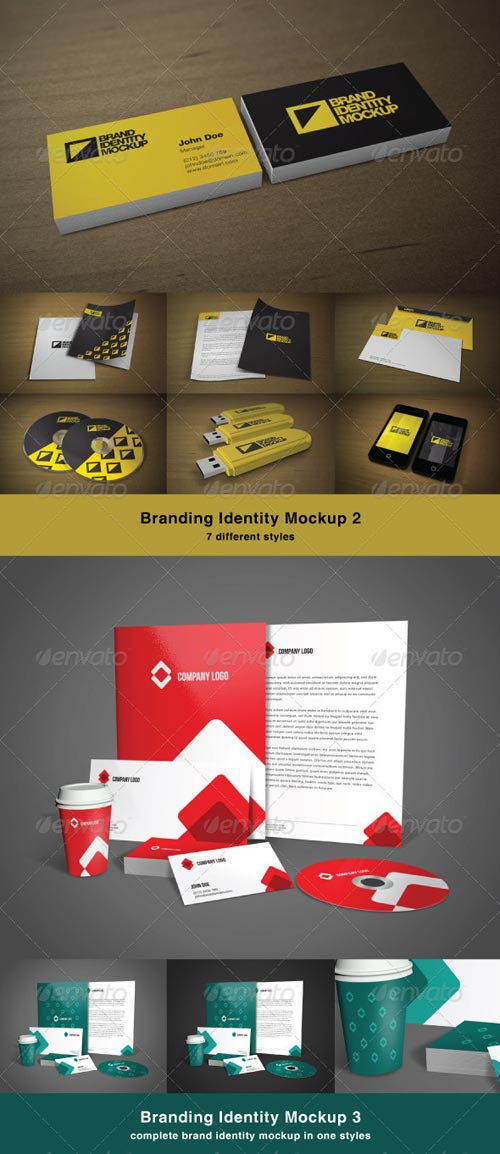 GraphicRiver Brand Identity Mock-up Bundle