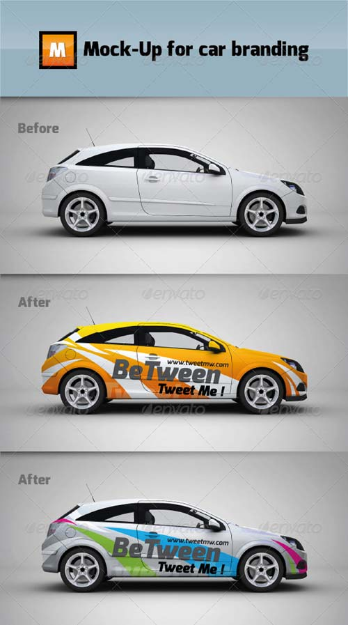 GraphicRiver Mock-up for car branding