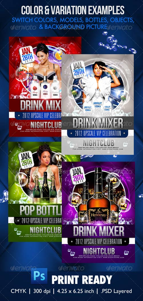 GraphicRiver Drink Mix Party Flyer Template