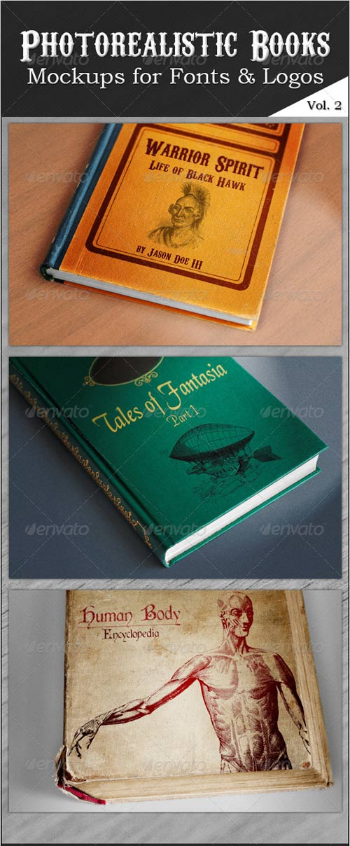 GraphicRiver Photorealistic Books Mockups, Vol. 2