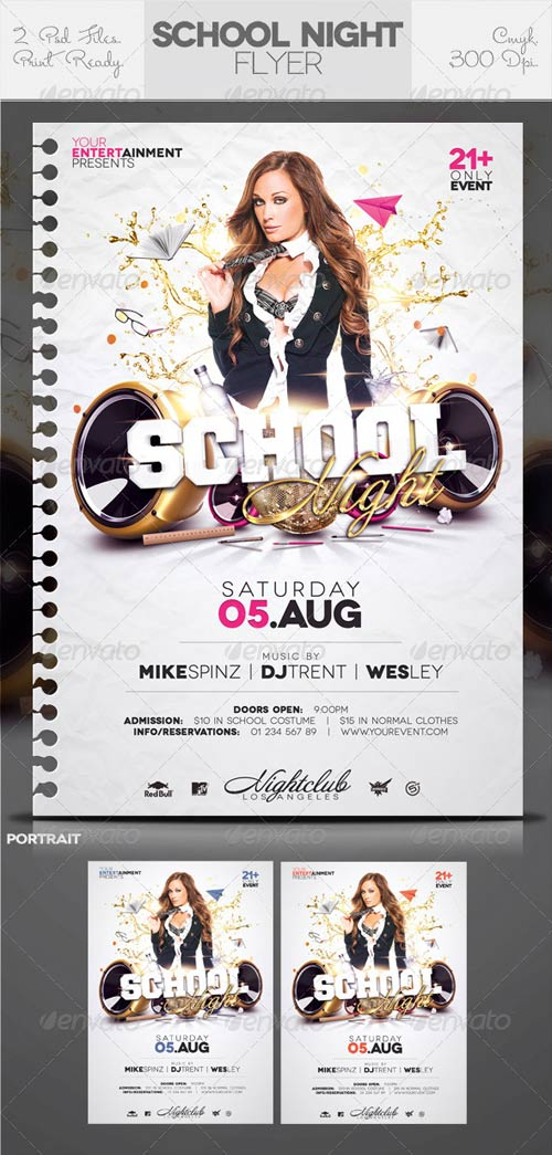GraphicRiver Club Sessions Flyer: School / College Night