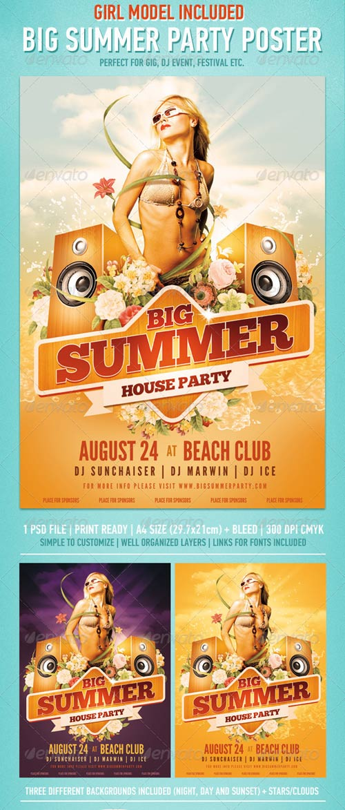 GraphicRiver Big Summer Party Poster