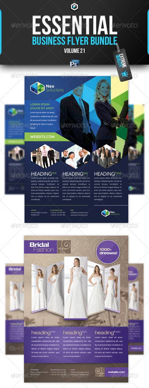 GraphicRiver RW Essential Business Flyer Bundle Vol 21