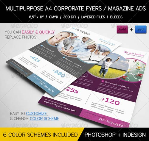 GraphicRiver Multipurpose Business Flyers / Magazine Ads