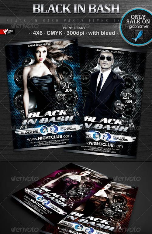 GraphicRiver Black In Bash Flyer Template