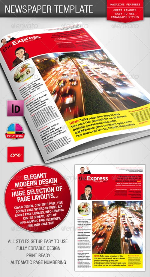 Indesign Newspaper Template Free Download Roho4senses