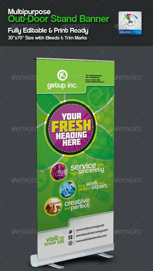 GraphicRiver Multipurpose Out-Door Stand Banner Sinage