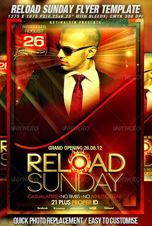 GraphicRiver Reload Sunday Flyer Template