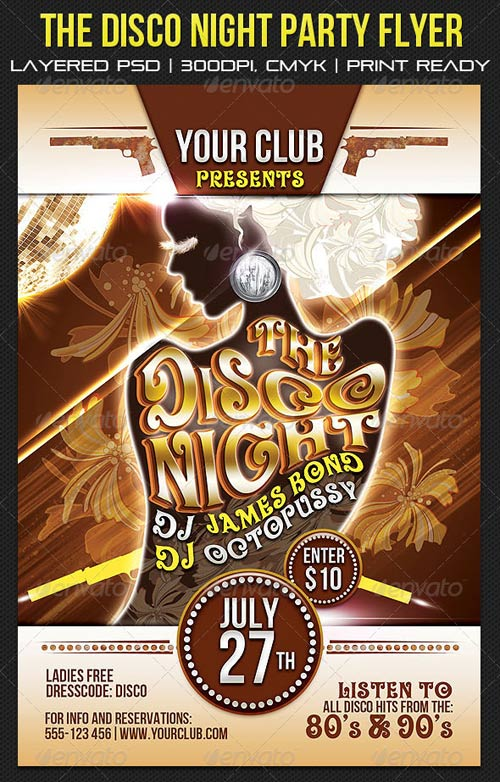 GraphicRiver The Disco Night Party Flyer