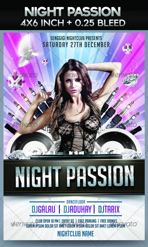 GraphicRiver Night Passion Flyer Template