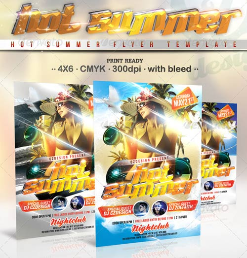 GraphicRiver Hot Summer Flyer Template