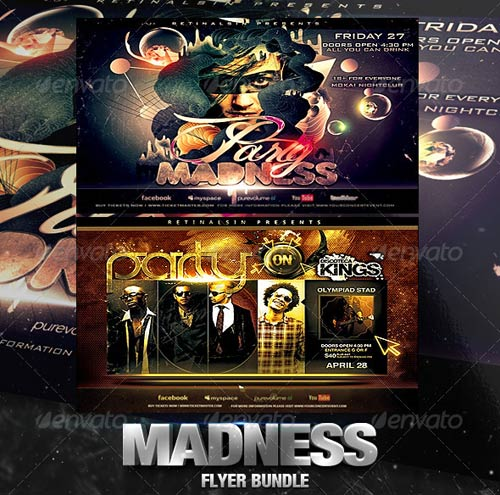 GraphicRiver Madness Flyer Bundle