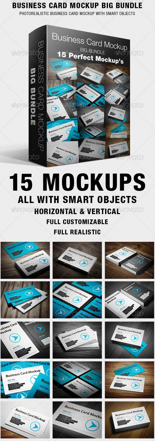 GraphicRiver Business Card Mockup Big Bundle
