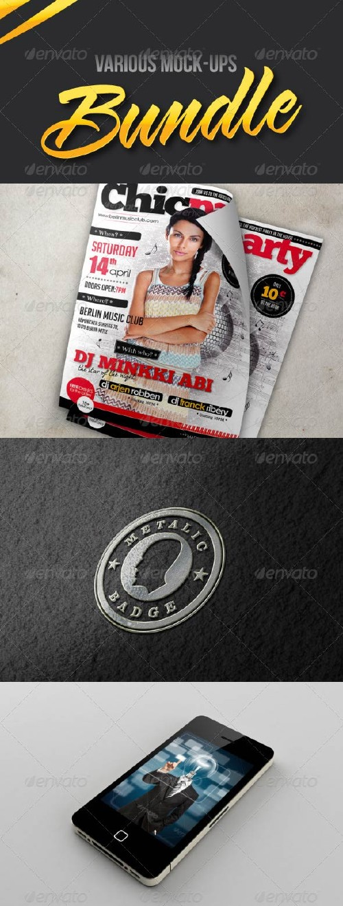 GraphicRiver Various Mockups Bundle