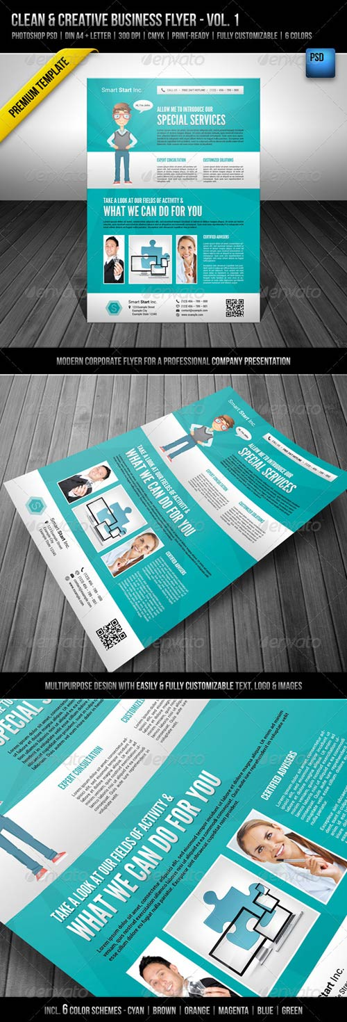 GraphicRiver Clean & Creative Business Flyer - Vol. 1