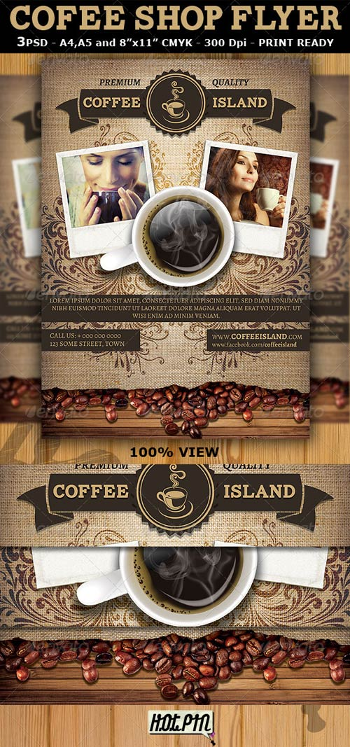 GraphicRiver Coffee Shop Magazine ad or Flyer Template
