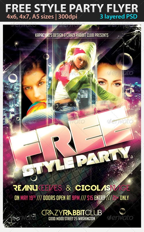 GraphicRiver Free Style Party Flyer