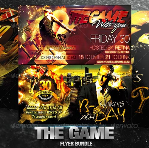 GraphicRiver The Game Flyer Bundle