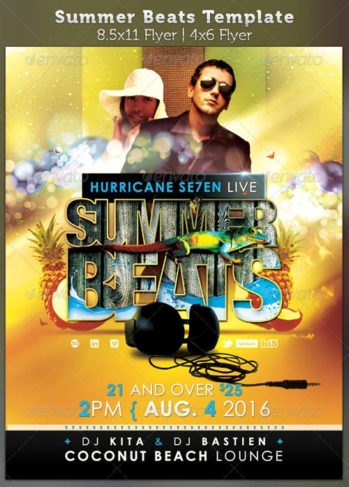 GraphicRiver Summer Beats Party Flyer Template